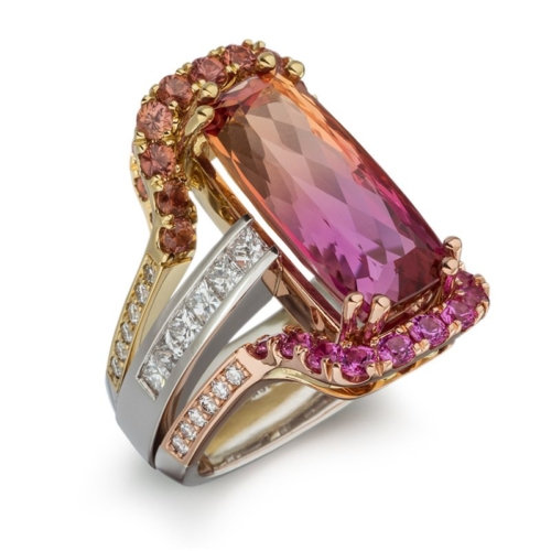Masterpiece Bi-Color Precious Topaz Ring