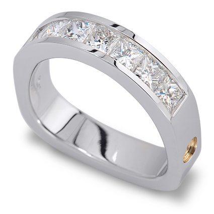 Paragon Princess Cut Diamond Platinum Band