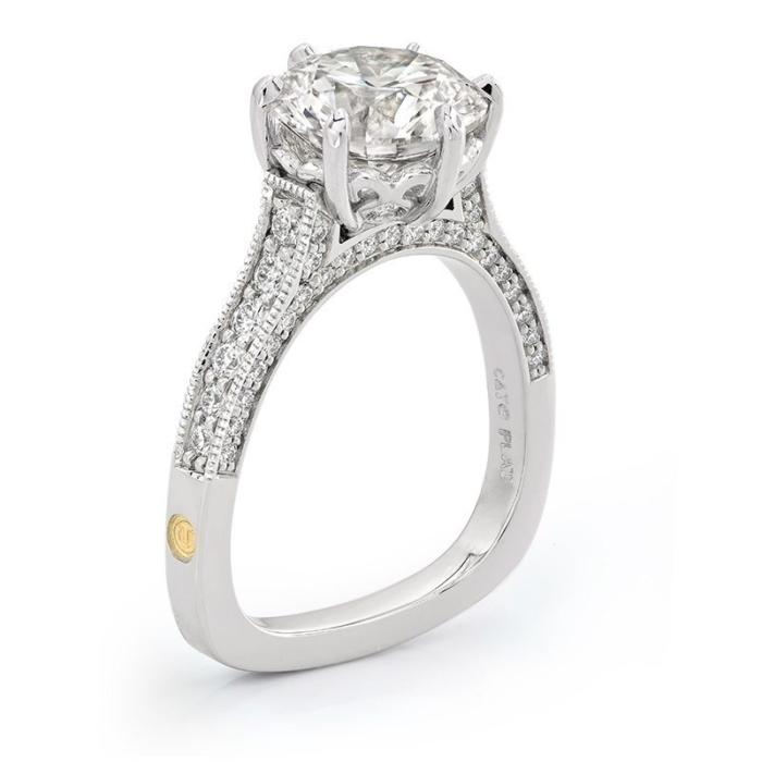 Paragon Round Brilliant Cut Diamond Platinum Engagement Ring