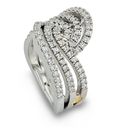 Affinity Swooping White Gold Diamond Fashion Ring