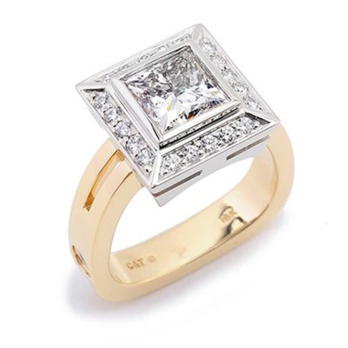 Majestic Princess Cut Diamond Halo Ring