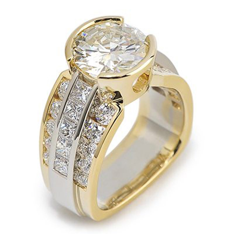 Paragon Round Brilliant Cut Diamond Two-Tone Ring