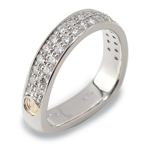 Two Row Paragon Pave Diamond Ring
