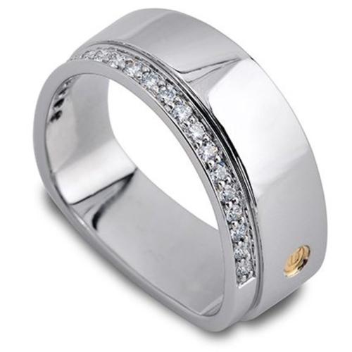 Horizon Diamond White Gold Men's Wedding Band